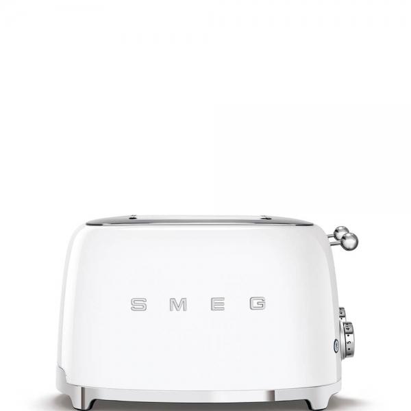 SMEG Retro-Style 4-Scheiben-Toaster TSF03WHEU weiss
