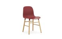 Normann Copenhagen Form Stuhl Wood Sitzschale rot / UG Eiche