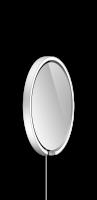 Occhio Mito Sfera Corda 40 Wide mit klarem Spiegel & externes Stromkabel silber matt