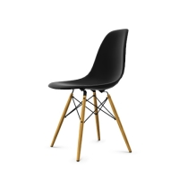 Vitra Eames Plastic Side Chair DSW (neue Höhe) schwarz