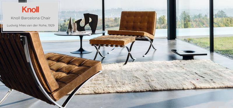 Knoll International Barcelona Chair Original