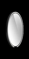 Occhio Mito Sfera 60 Wide mit klarem Spiegel schwarz matt
