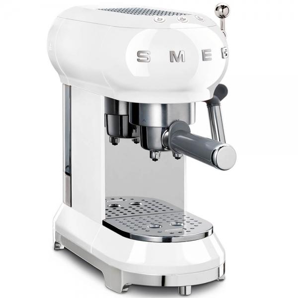 SMEG Retro-Style Espresso-Kaffeemaschine weiss ECF01WHEU