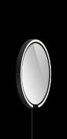 Occhio Mito Sfera Corda 40 Wide mit klarem Spiegel & externes Stromkabel schwarz matt