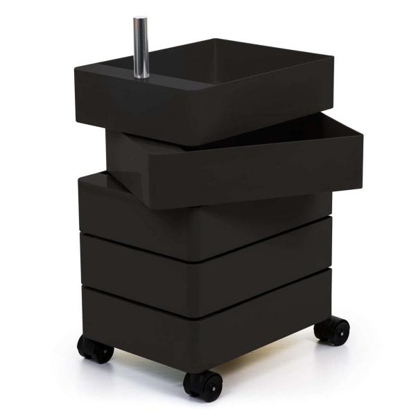 Magis Design 360° Rollcontainer 5 Fächer schwarz
