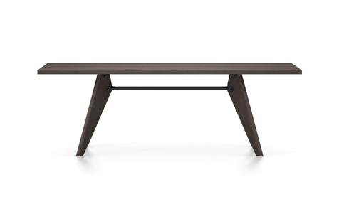Vitra Table Solvay Esstisch Eiche geraeuchert massiv geoelt 220 cm dunkelbraun