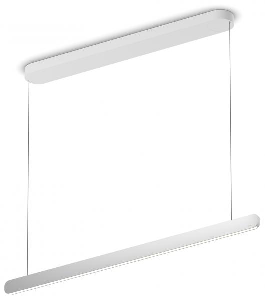 Occhio Mito Volo Linear 100 Up wide Pendelleuchte silber matt