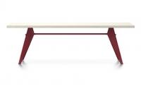 Vitra Prouve EM Table Esstisch HPL 240 cm elfenbein/japanese-red