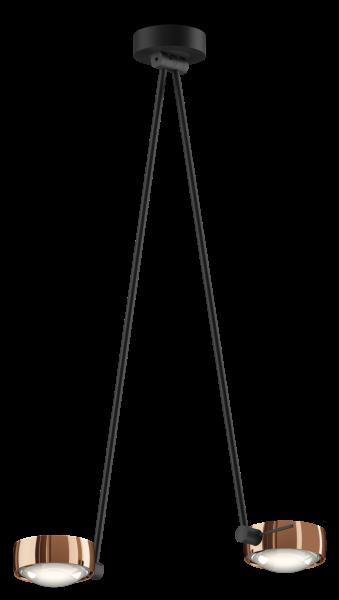 Occhio Sento E Soffitto Due LED drehbar Deckenleuchte rosé gold / schwarz matt