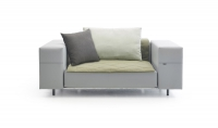 extremis® Walrus Club Chair 110 mit Kissen Outdoor-Loungemöbel Sofa 2-Sitzer
