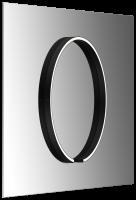 Occhio Mito Sfera Su 60 Wide Spiegelleuchte zur Spiegelmontage schwarz matt
