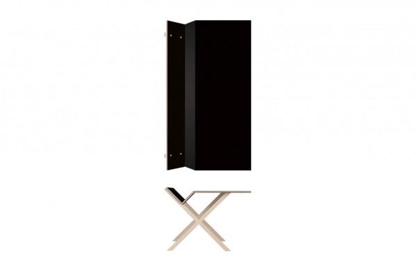 Nils Holger Moormann Schreibtisch Kant Linoleum schwarz B 190 cm