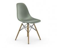 Vitra Eames Fiberglass Side Chair DSW sea foam green UG: Ahorn gelblich