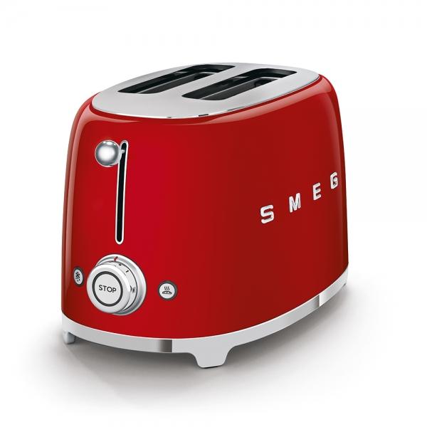 SMEG Retro-Style 2-Scheiben-Toaster rot TSF01RDEU