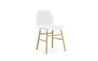 Normann Copenhagen Form Stuhl Wood Sitzschale weiss / UG Eiche