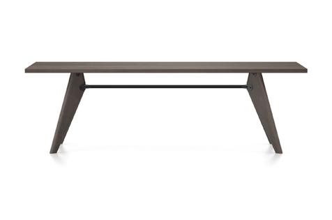 Vitra Table Solvay Esstisch Eiche geraeuchert massiv geoelt 240 cm dunkelbraun