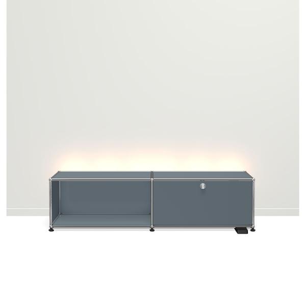 USM Haller E TV/Hi-Fi-M?bel mit dimmbarem Licht mittelgrau