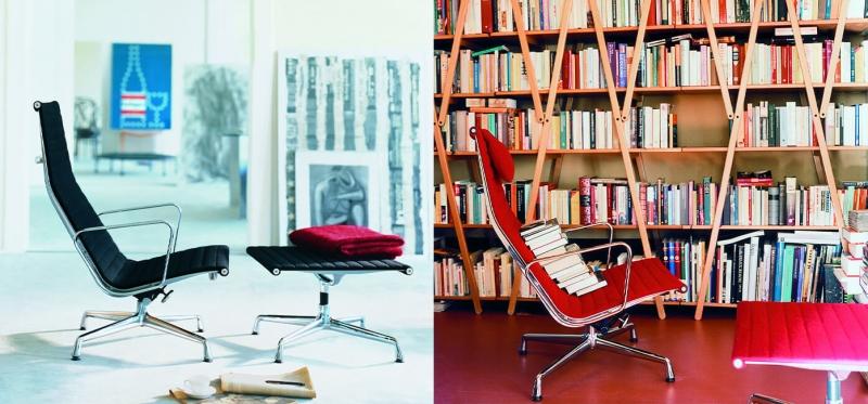 Vitra Aluminium Chair EA 124 / 125 design Charles & Ray Eames 1958