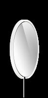 Occhio Mito Sfera Corda 60 Wide mit klarem Spiegel & externes Stromkabel weiß matt