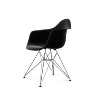Vitra Eames Plastic Arm Chair DAR (neue Höhe) schwarz