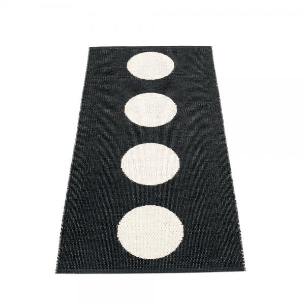 Pappelina Vera Black 70x150 Teppich & Badvorleger schwarz