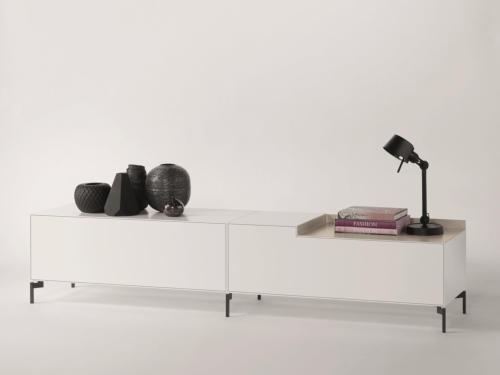 Piure NEX BOX Lowboard 240 x 48 x 50,5 weiss matt