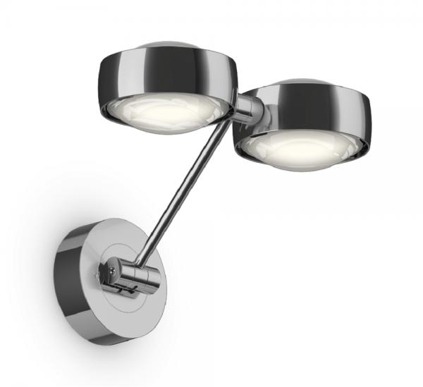 Occhio Sento D LED Parete Doppio Up 20 cm Wandleuchte chrom