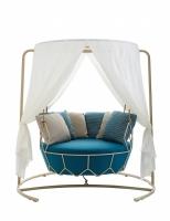 Roberti® Gravity Swing-Seat-Light Outdoorloungemöbel Sitz- & Rückenkissen, Gestell, Sonnenschutztuch