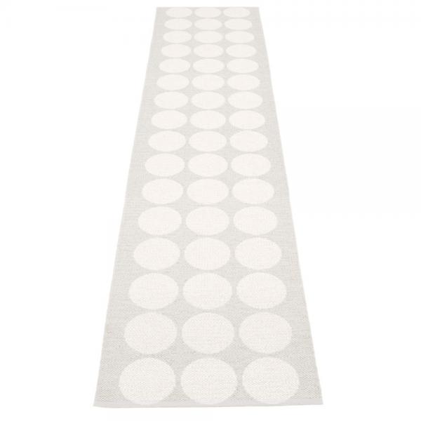 Pappelina Hugo White Fossil Grey 70x400 Teppich & Badvorleger grau