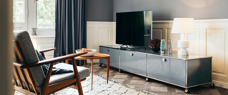 USM Haller TV- & HiFi Möbel grau