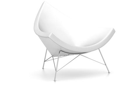 Vitra Coconut Chair Sessel Leder snow