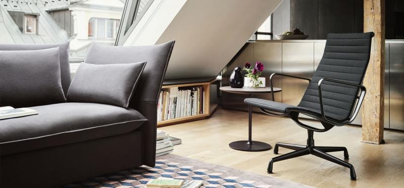 Vitra Aluminium Chair EA 116 / 117 design Charles & Ray Eames, 1958