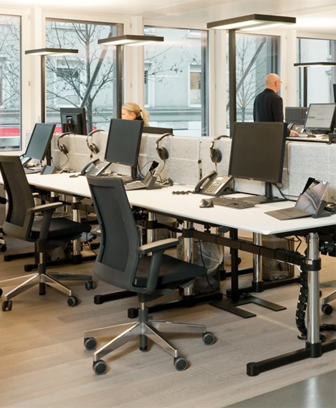 USM Haller Teamarbeitsplatz & Großraumbüro