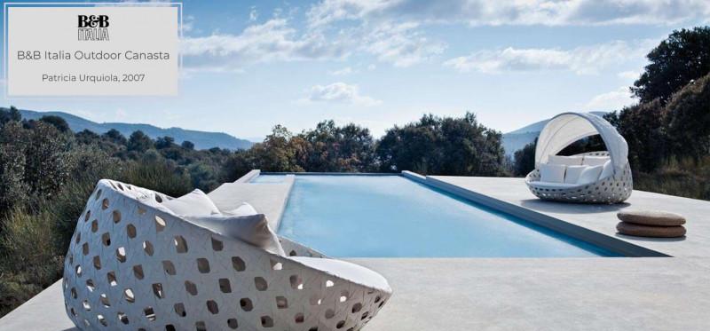 B&B Italia Canasta Outdoorlounge Gartenliege Loungegruppe