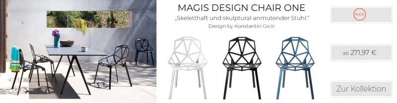 Magis Design Chair One Aluminium-Stapelstuhl eloxiert weiss