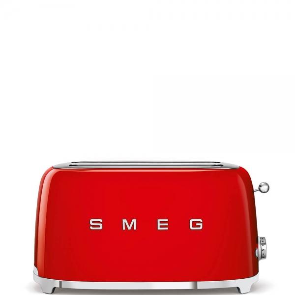 SMEG Retro-Style 2-Scheiben-Toaster, lang TSF02RDEU rot