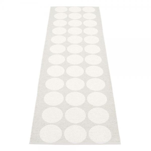 Pappelina Hugo White Fossil Grey 70x240 Teppich & Badvorleger grau