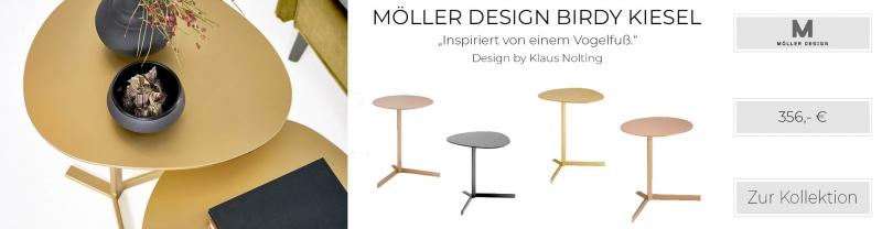 Möller Design Birdy Kiesel Beistelltisch