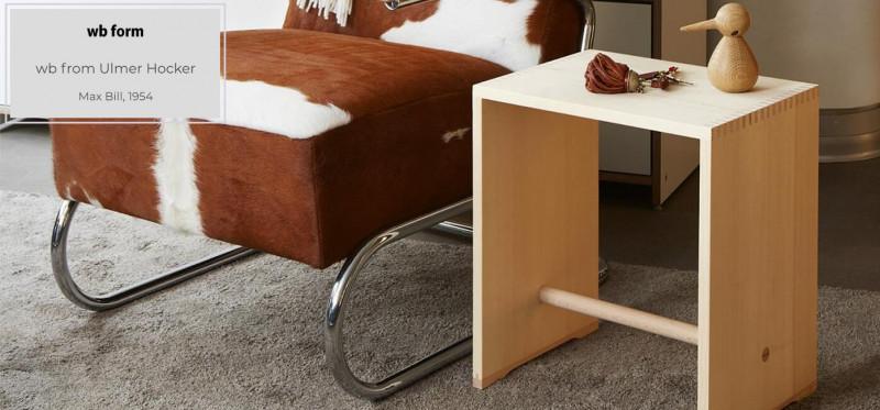 wb form Ulmer Hocker Max Bill Bauhausdesign