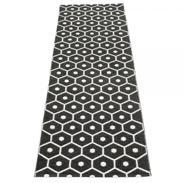 Pappelina Hony Black 70x225 Teppich & Badvorleger schwarz