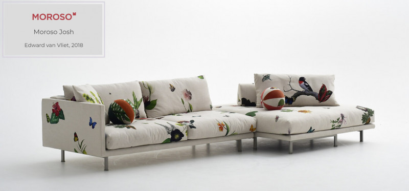 Moroso Josh Sofa im Naturdesign italienisch