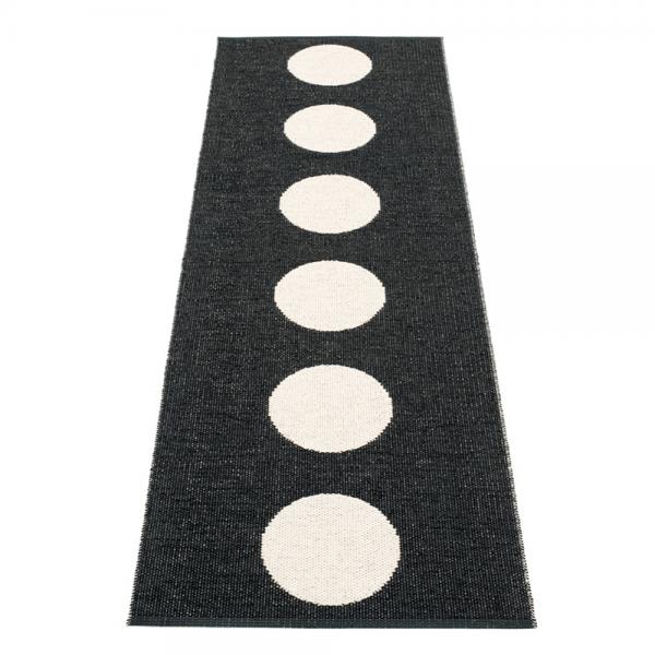 Pappelina Vera Black 70x225 Teppich & Badvorleger schwarz