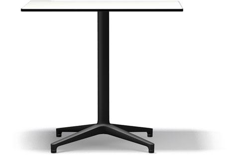 Vitra Bistro Table indoor und outdoor geeignet 80 x 64 x 72 cm weiss/schwarz