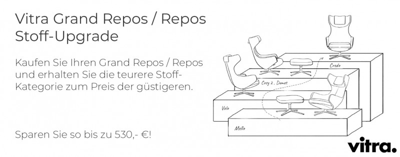 Vitra Grand Repos oder Repos Stoff-Upgrade Winterkampagne