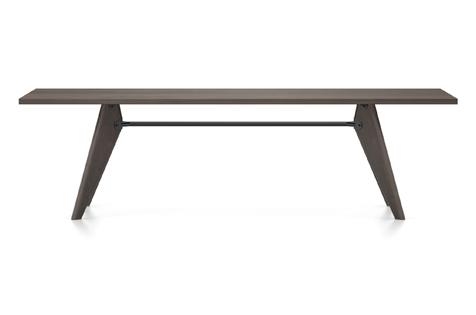 Vitra Table Solvay Esstisch Eiche geraeuchert massiv geoelt 260 cm dunkelbraun