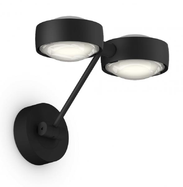 Occhio Sento D LED Parete Doppio Up 20 cm Wandleuchte schwarz matt
