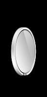 Occhio Mito Sfera 40 Wide mit klarem Spiegel silber matt