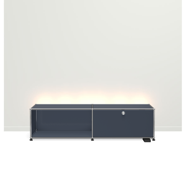 USM Haller E TV/Hi-Fi-M?bel mit dimmbarem Licht anthrazit