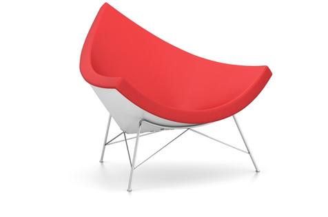 Vitra Coconut Chair Sessel Hopsak (Stoff) rot/poppy red