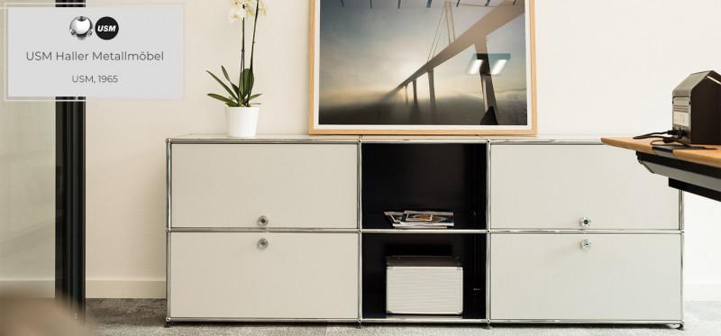 USM Haller Metallmöbel Sideboard Designklassiker